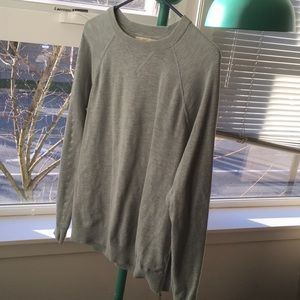 H&M teal green cotton sweater